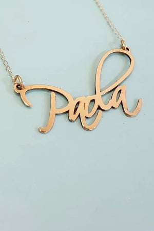 Artsy Personalized Necklace