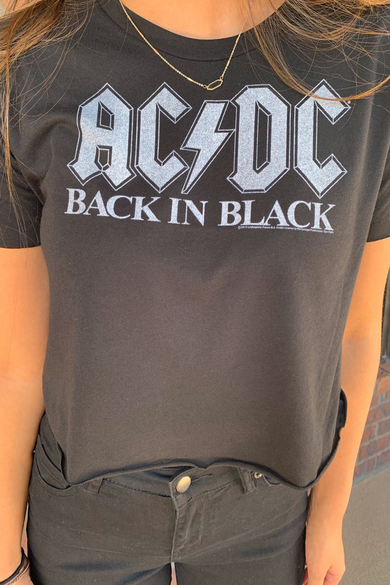 AC/DC Back In Black Crop Tee