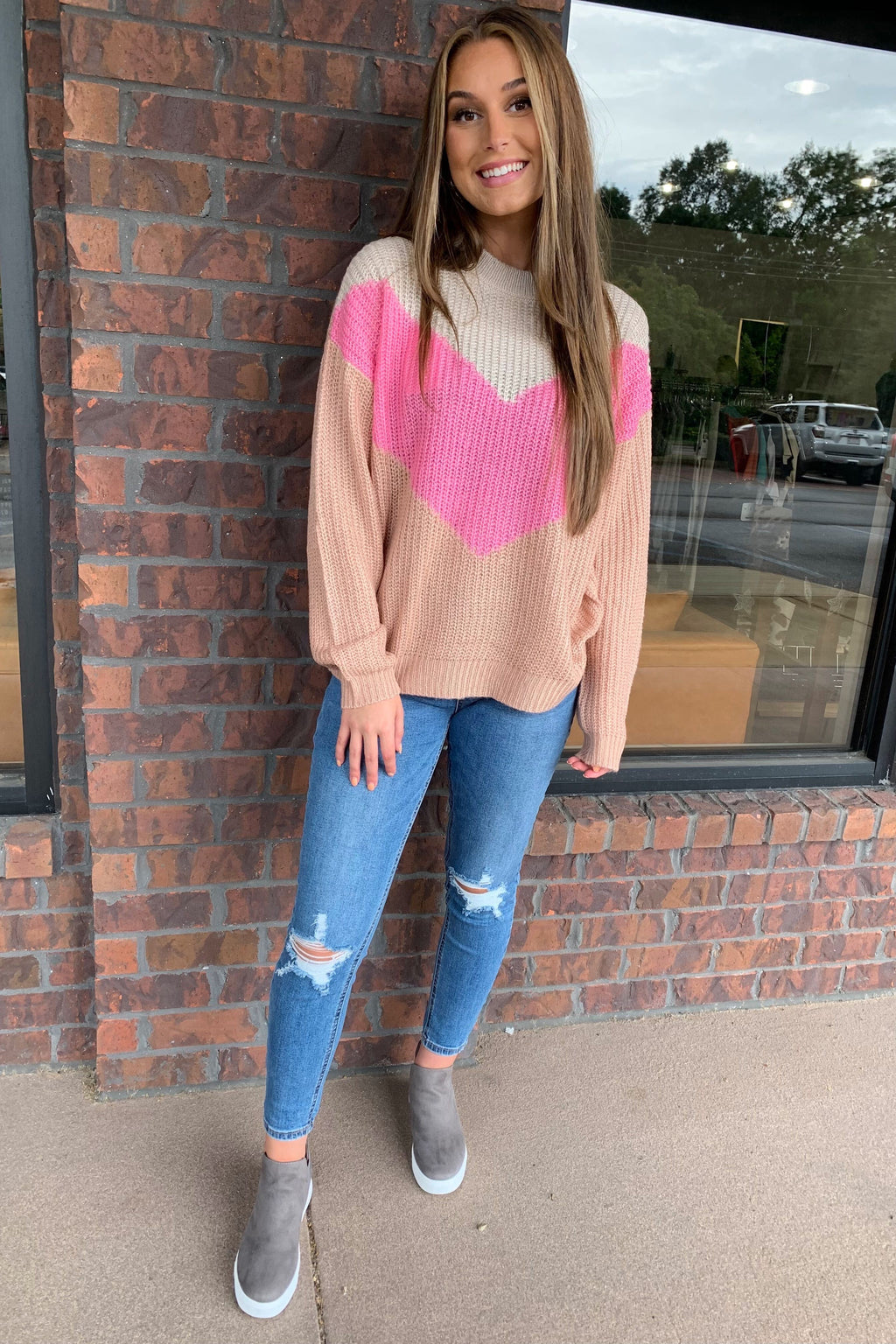 Ice Cream Colorblock Sweater