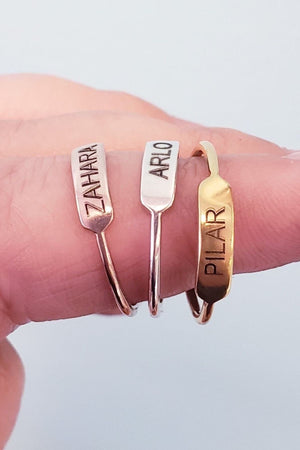 Sweet Personalized Stackable Ring