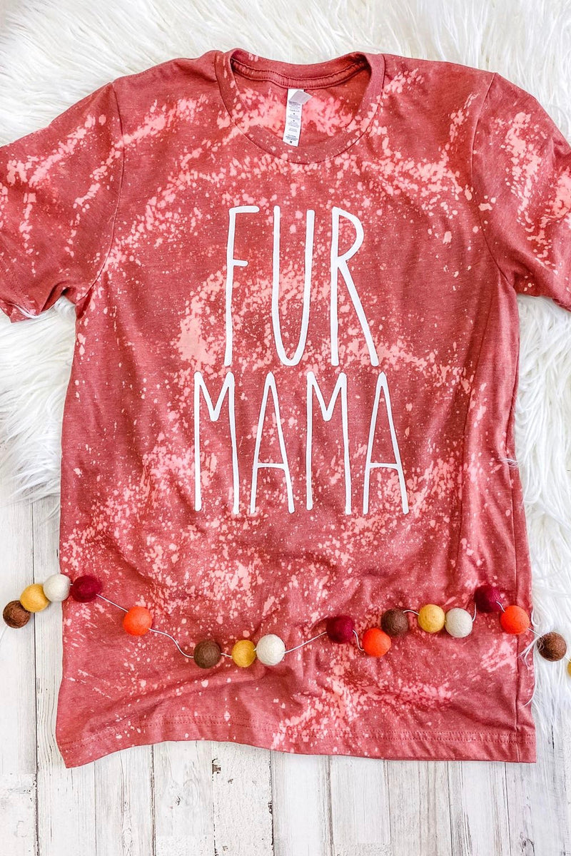 Fur Mama Distressed Tee