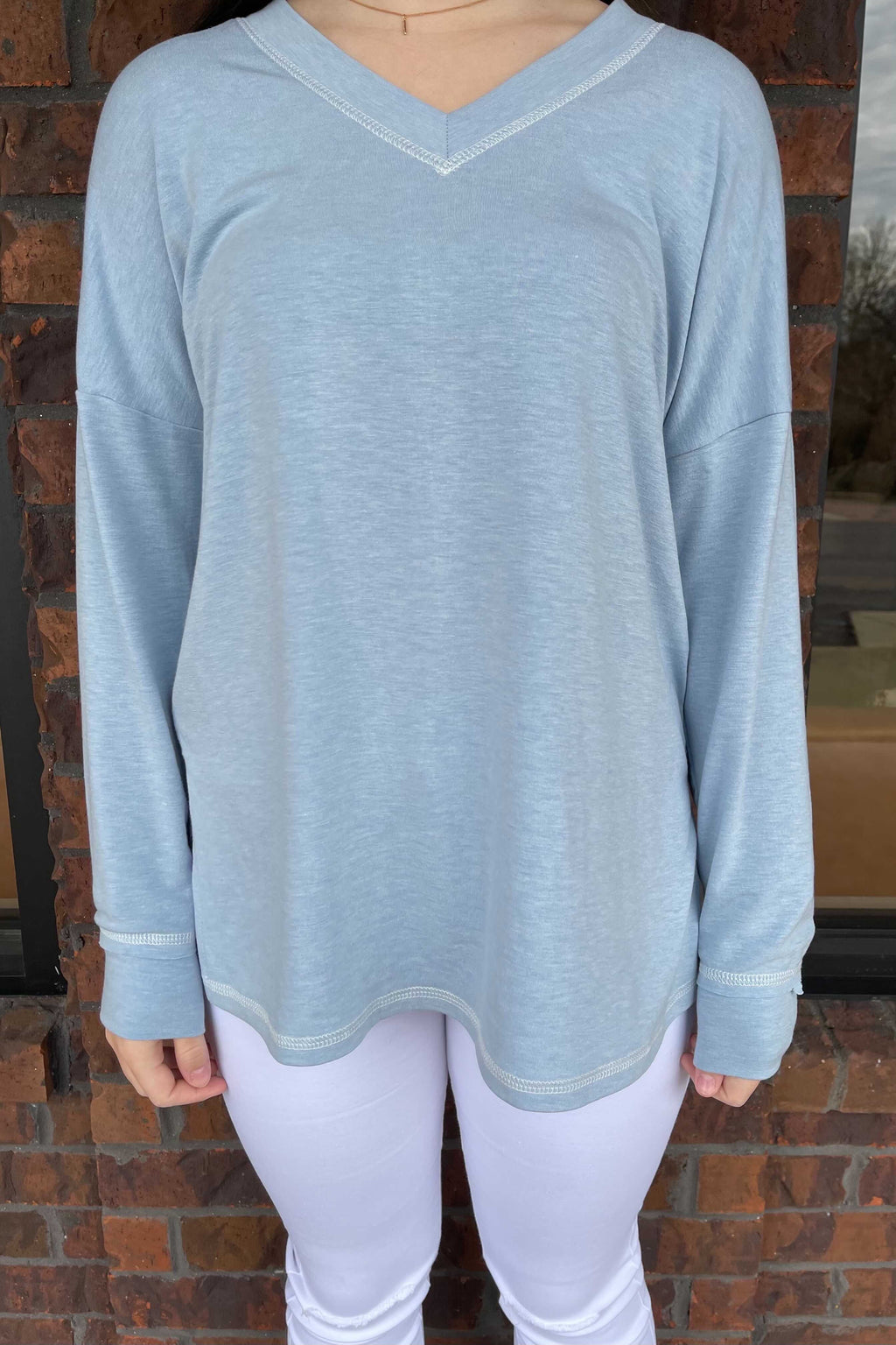 Special Stitch Pullover - Blue
