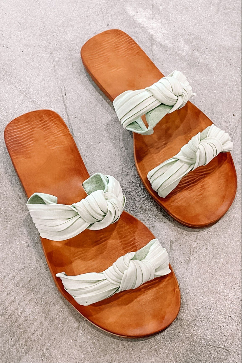 Twisty Flat Sandal- Mint