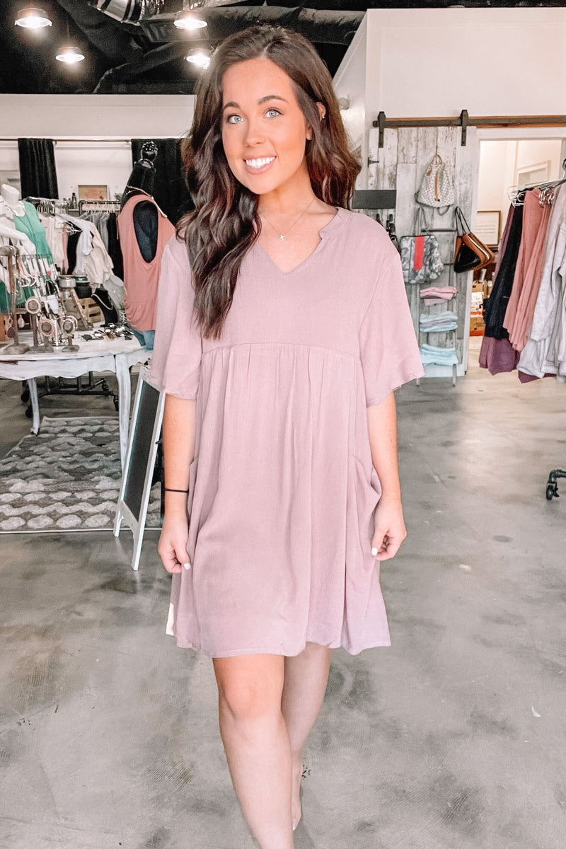 Mauve Mini Ceylon Dress