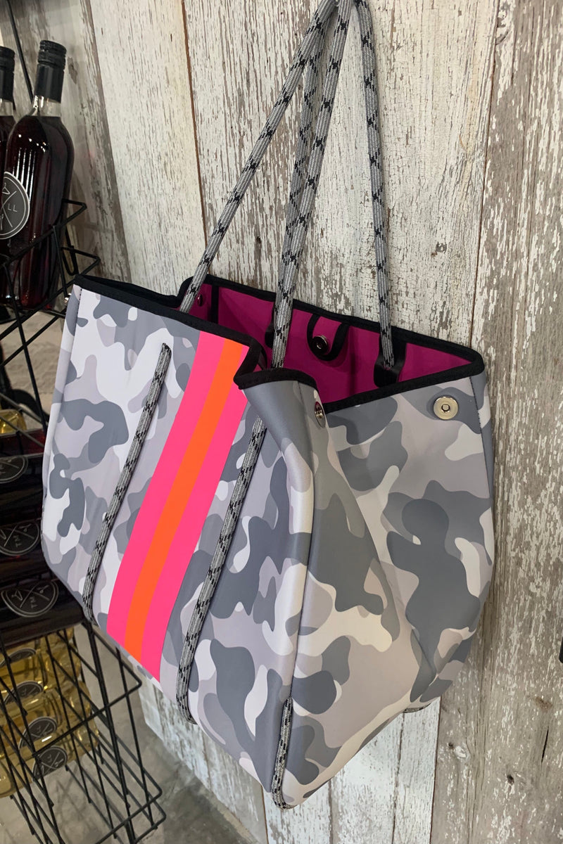 The Miami Bag- Grey Camo