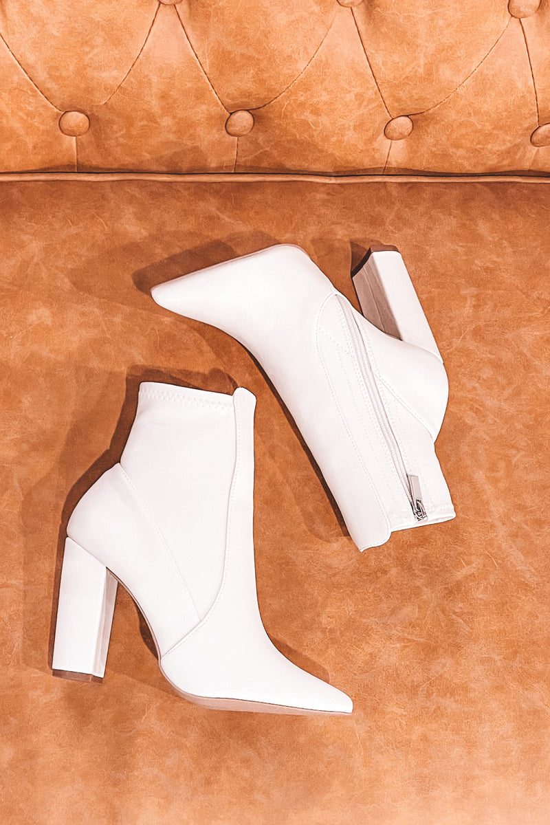 Runway White Booties