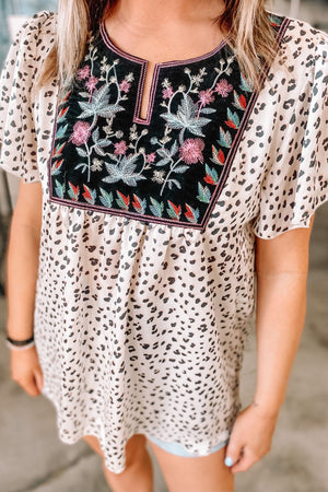 Leo Floral Woven Top