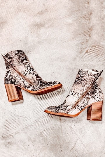 Zip Around Snake Bootie