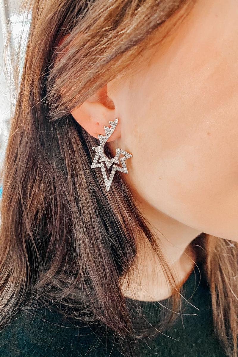 Ruth Earrings- Silver
