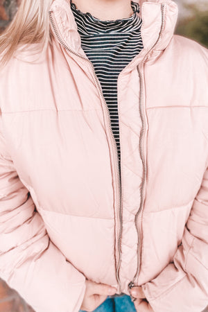 Pretty in Pink Puffer Jacket