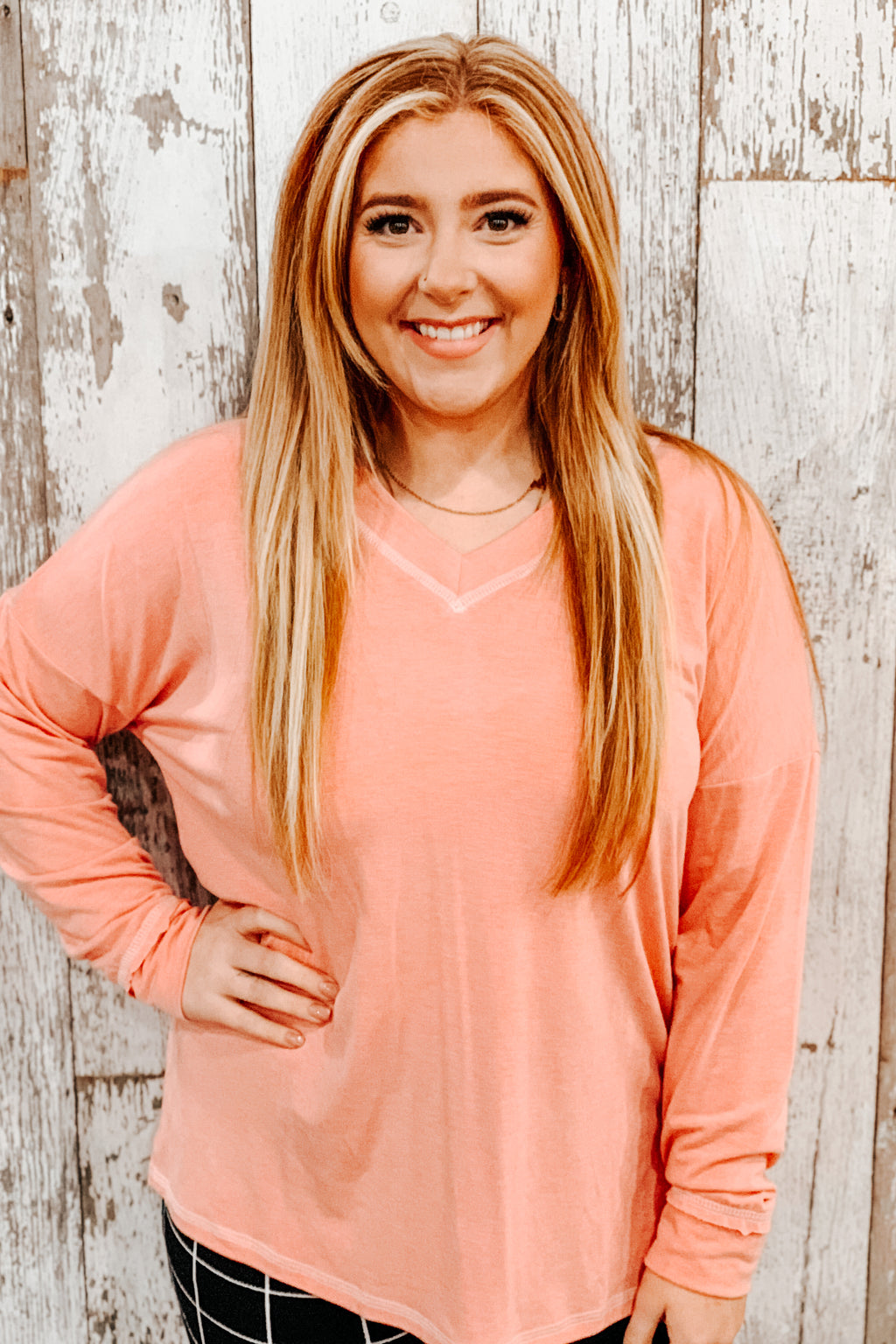 Special Stitch Pullover - Coral