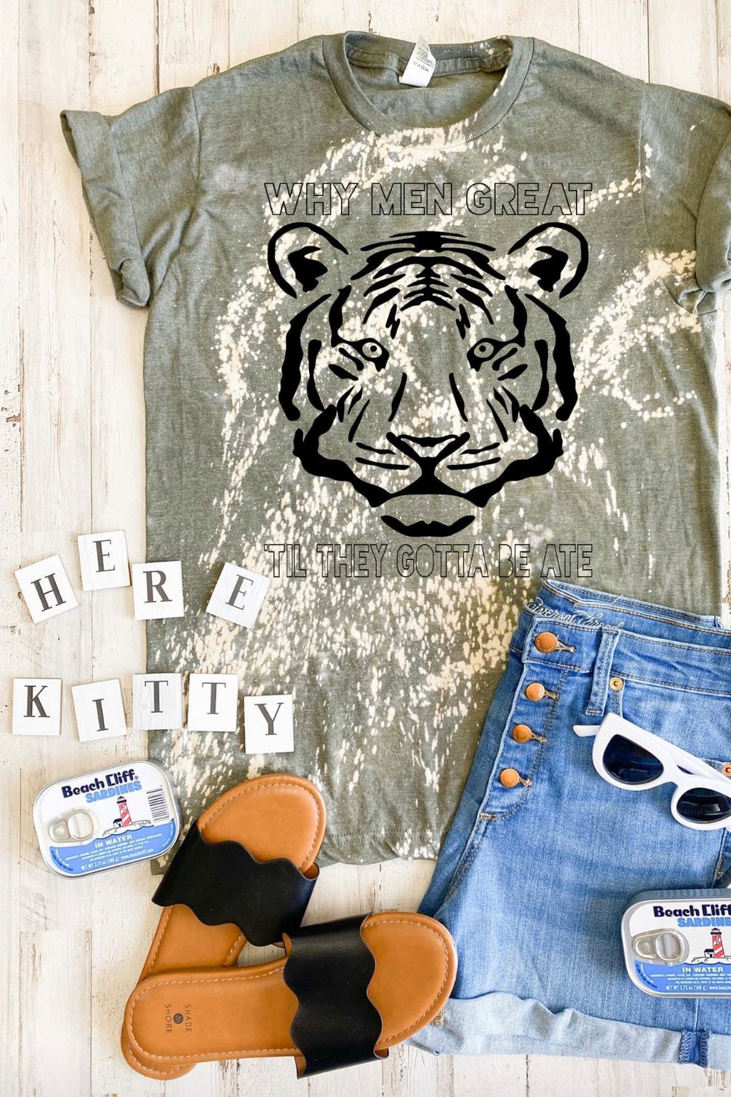 Tiger King Acid Wash Tee