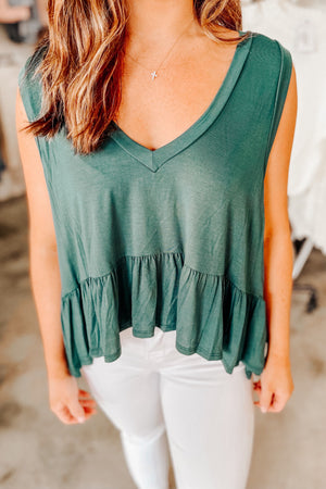 Go with the Flow Tank - Green