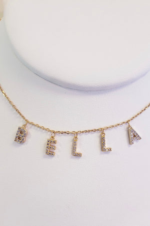 Custom Letter Charm Necklace