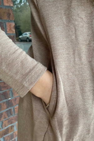 Fall For Me Sweater Dress - Tan