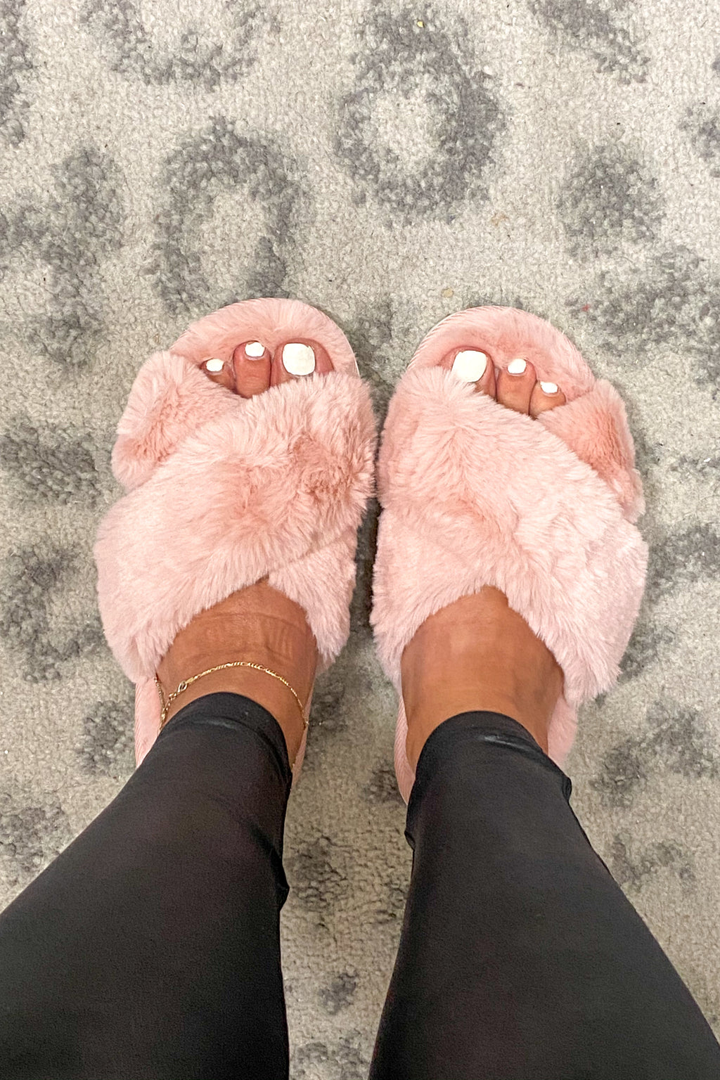 Keep On Dreaming Faux Fur Slippers