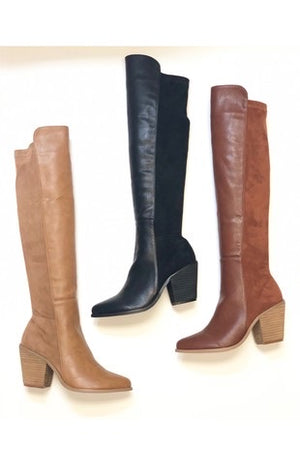 Midnight Rider Knee High Boots - Taupe