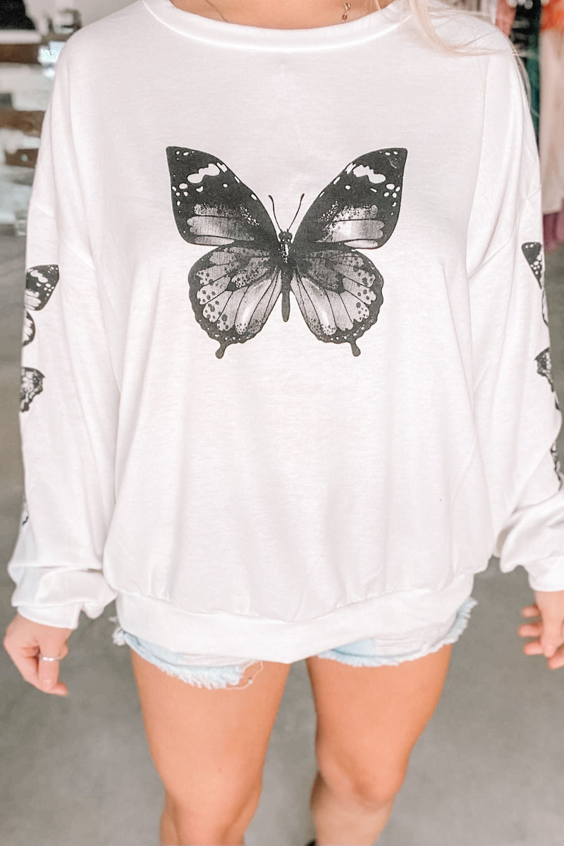 Terry Butterfly Pullover