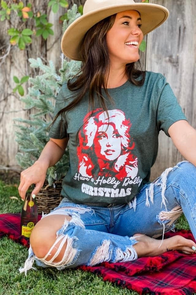 Holly Dolly Christmas Tee