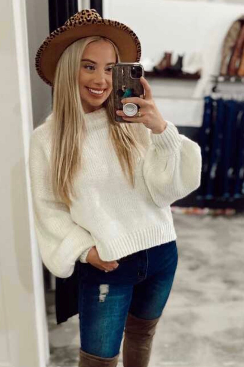 Basic Crop Knit Sweater