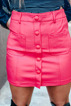Let's Go Out Skirt-Magenta