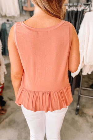 Go with the Flow Tank - Apricot
