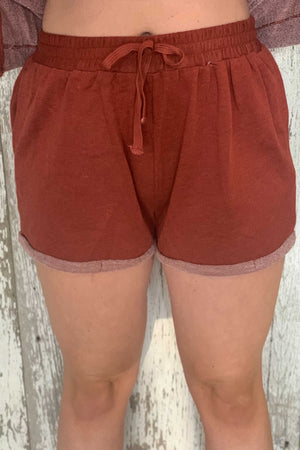 Rust Relaxed Shorts