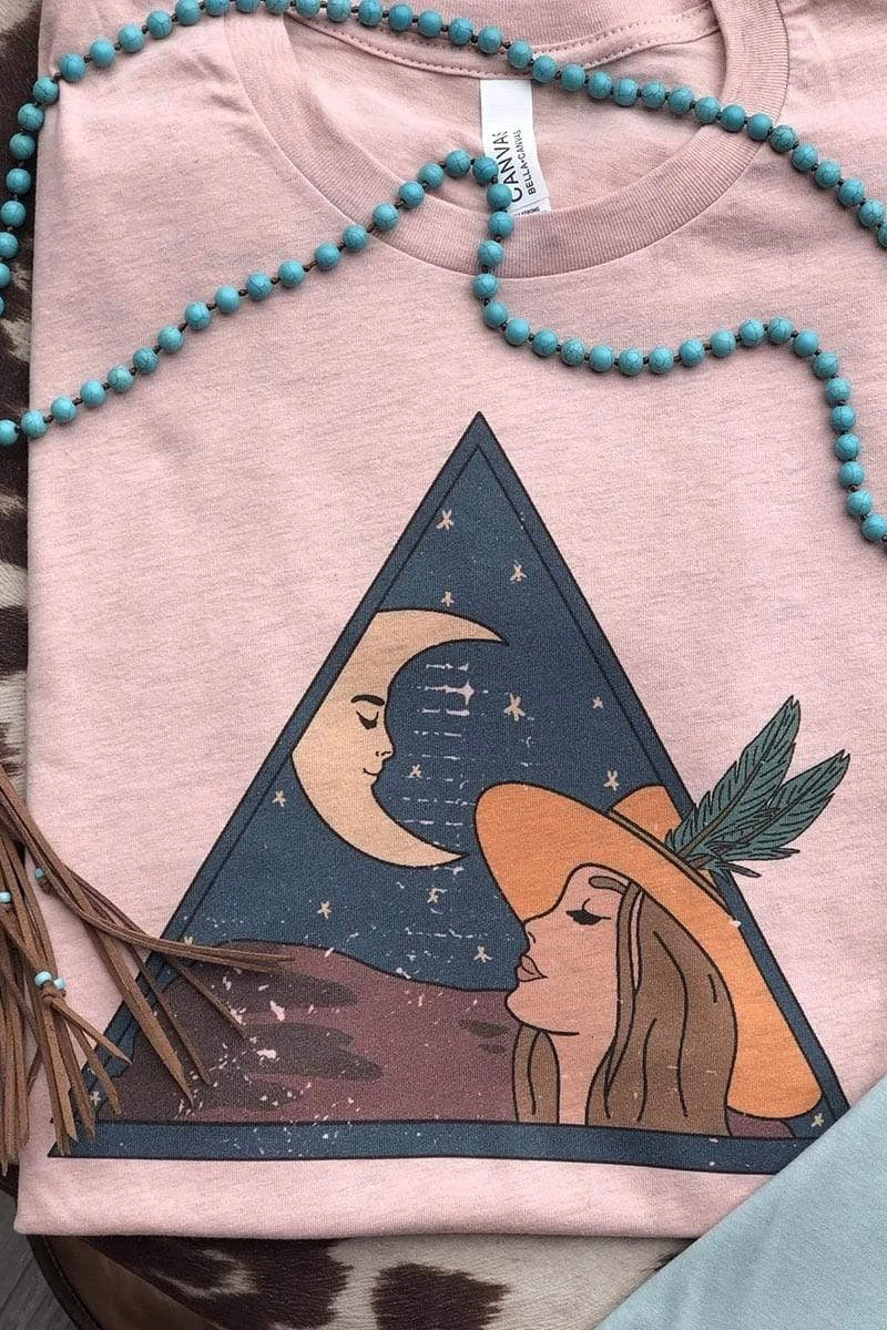 I See the Moon Tee - Peach