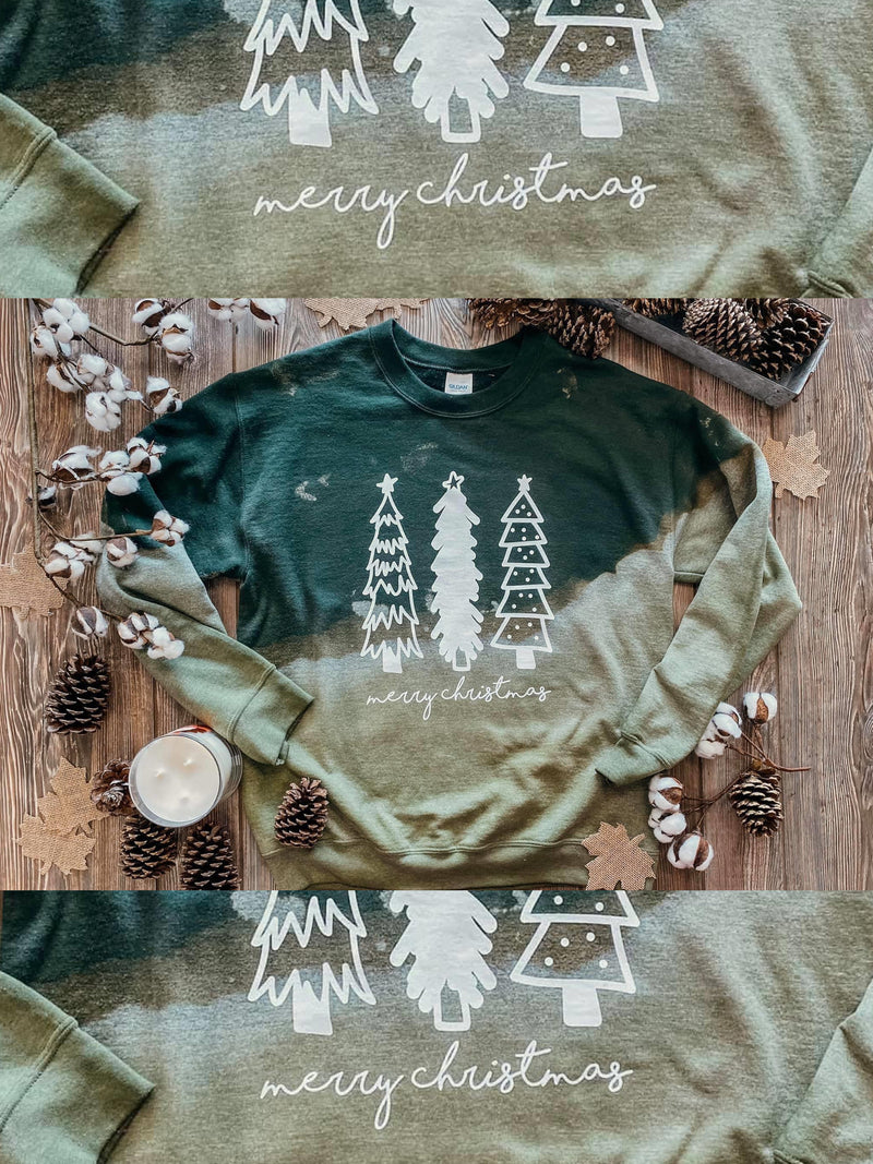 Merry Christmas Distressed Sweatshirt