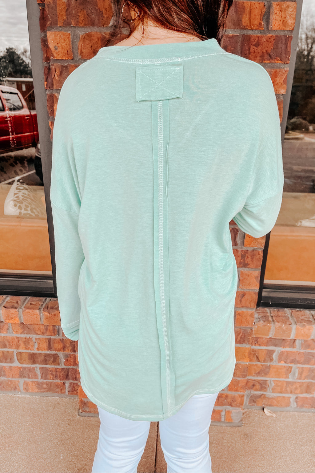 Special Stitch Pullover - Green