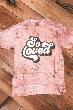 So Loved Marbled Comfort Color Tee