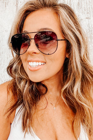 Aviator Sunnies- Black Ombre