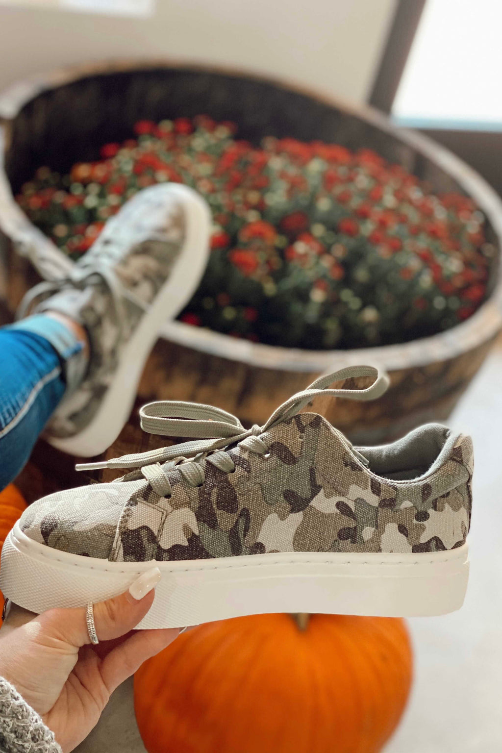 Camo Canvas Sneakers
