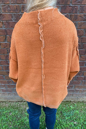 Stay Cozy Chenille Sweatshirt - Almond