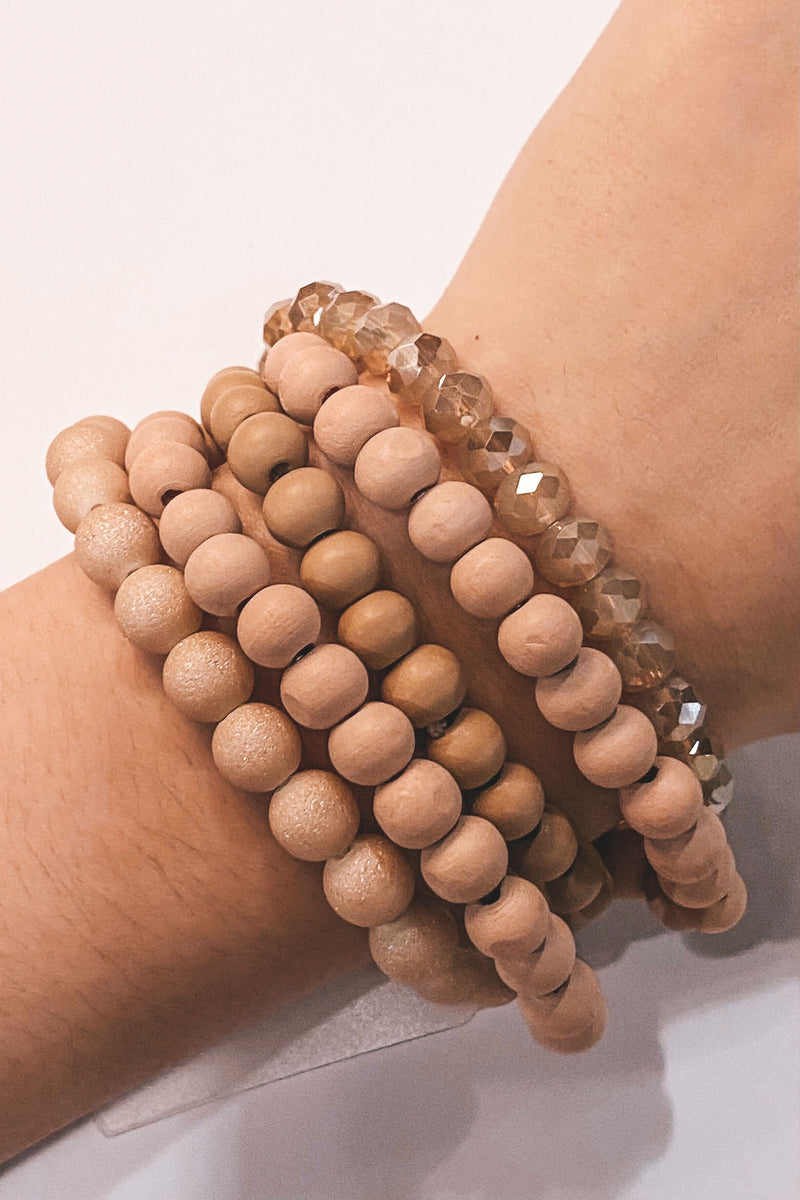 Layered Beaded Bracelet Set