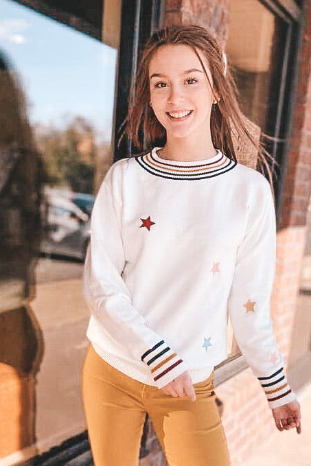 Stars & Stripes Varsity Sweatshirt