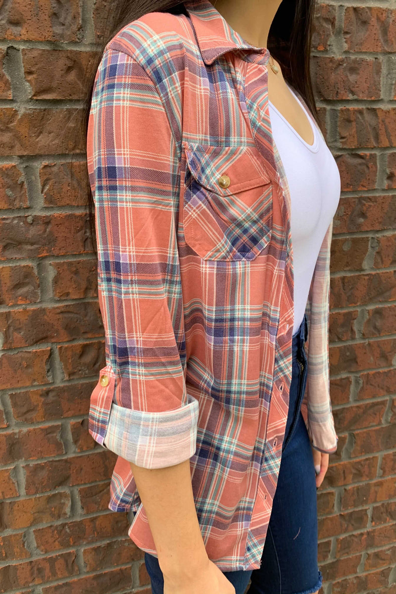 Pink & Plaid Top