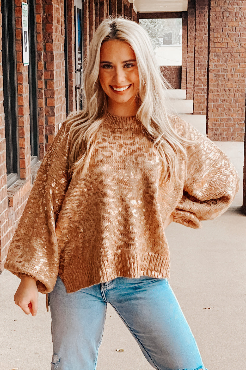 Stay Golden Leo Sweater