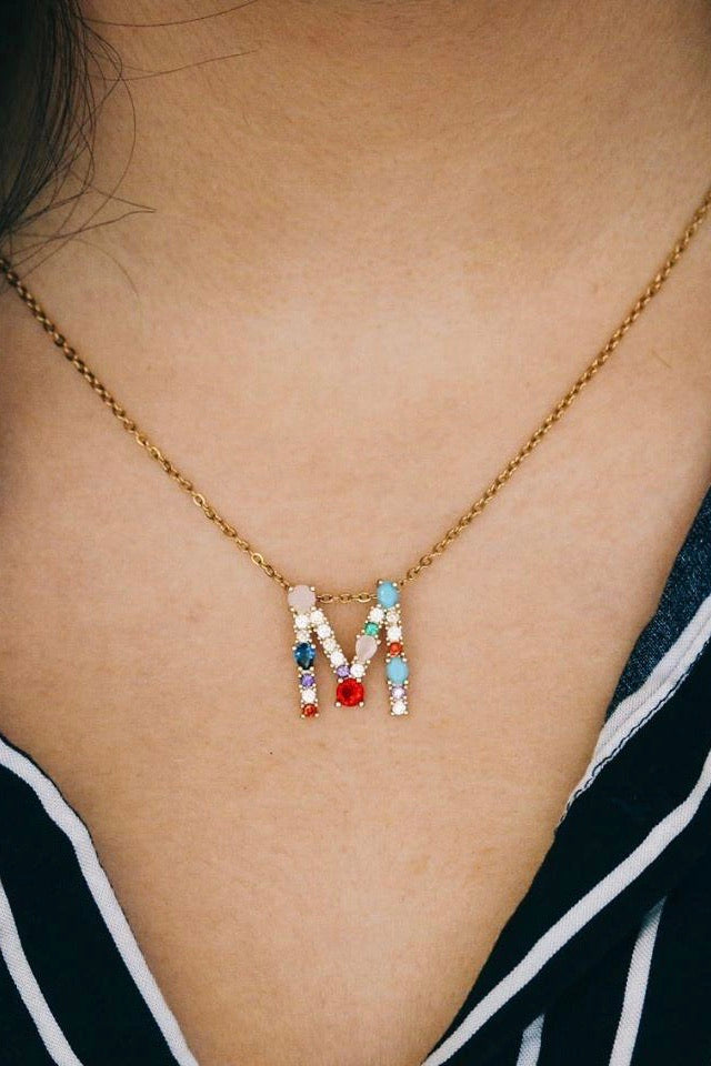 You're a Gem Initial Necklace
