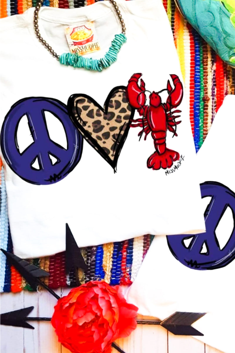 Peace, Love Crawfish Tee
