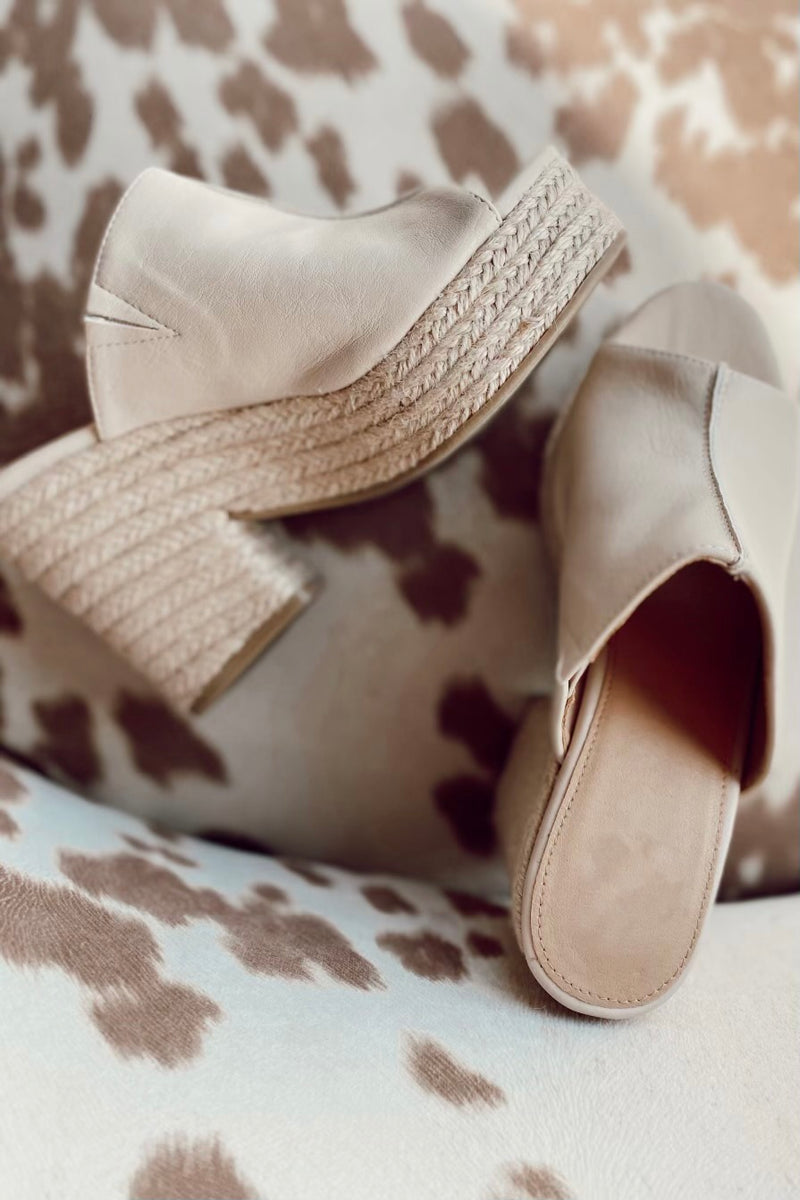 Nude Chunky Sandals