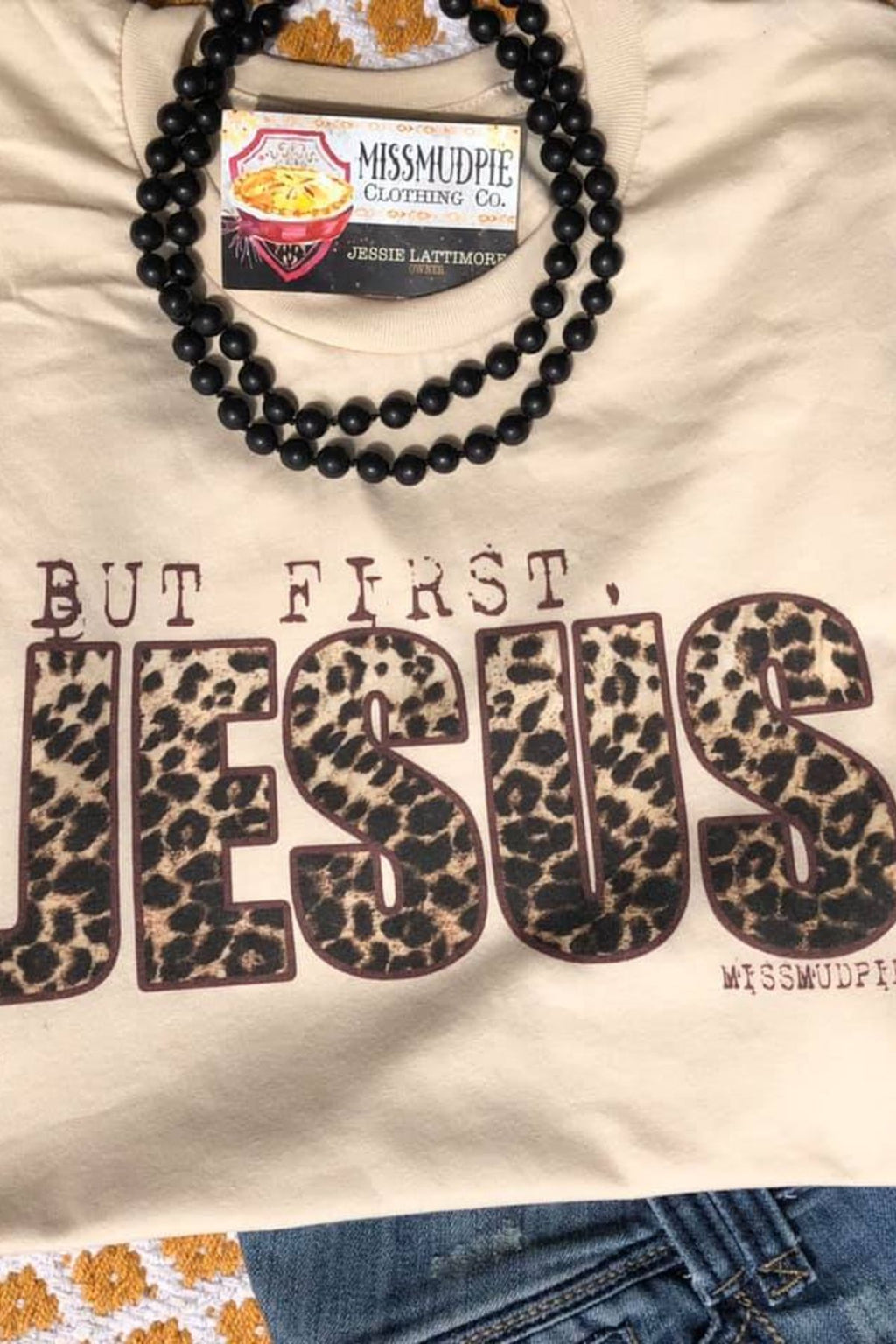 But First, Jesus Leopard Tee