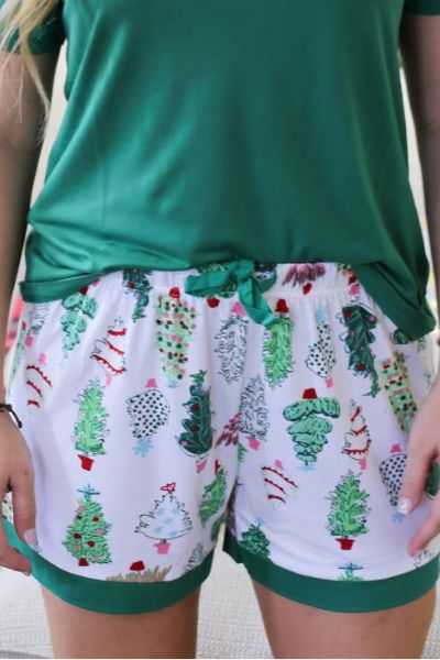 Christmas PJ Shorts - Oh Christmas Tree
