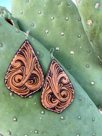 Brown and Tan Bombshell Earrings