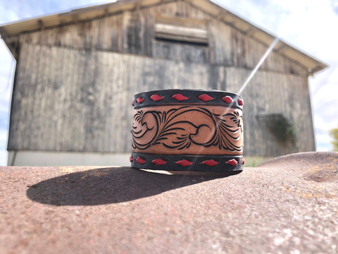 Medium Cuff (Black and Red)