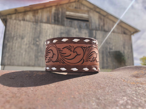Large Cuff (Brown and White)