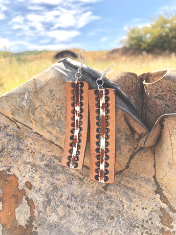 Cowhide Cutie Earrings
