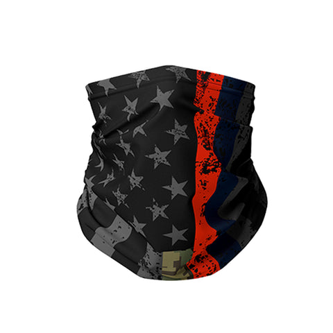 Blackout Flag American Heroes Neck Gaiter