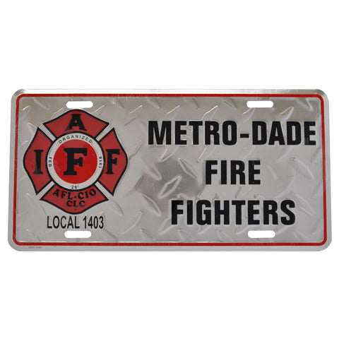 IAFF Local 1403 Plate (Diamond)