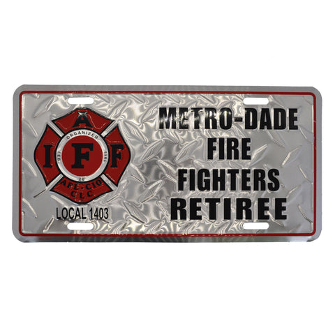 IAFF Local 1403 Retiree Plate (Diamond)